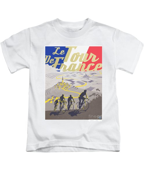Retro Tour De France Kids T-Shirt
