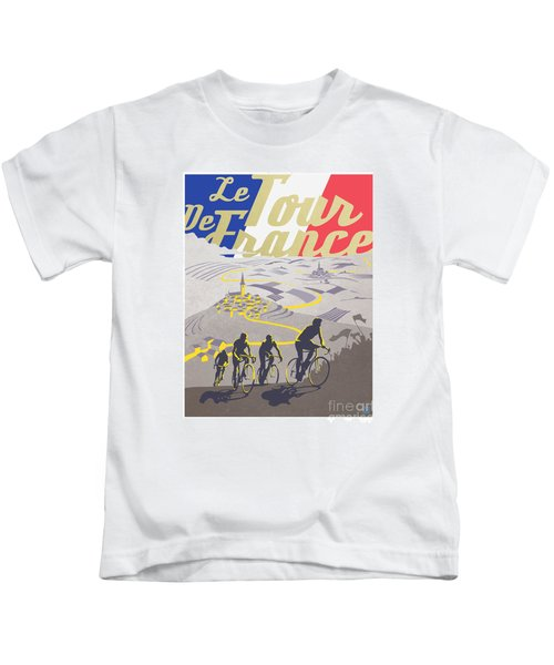 Retro Tour De France Kids T-Shirt