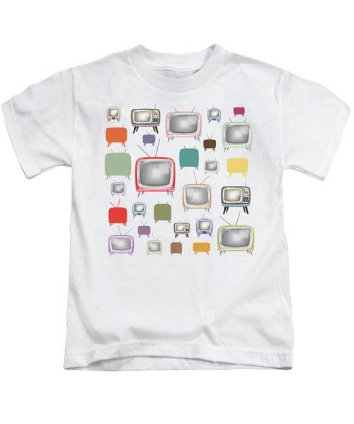 Retro T.v. Kids T-Shirt