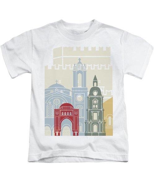 Rhodes Skyline Poster Kids T-Shirt
