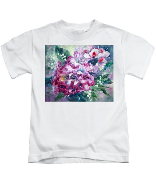 Rhododendron And Lily Of The Valley Kids T-Shirt