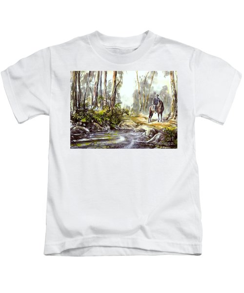 Rider By The Creek Kids T-Shirt