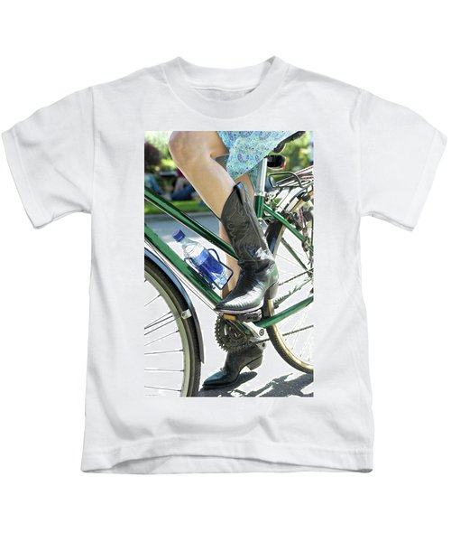 Riding In Style Kids T-Shirt