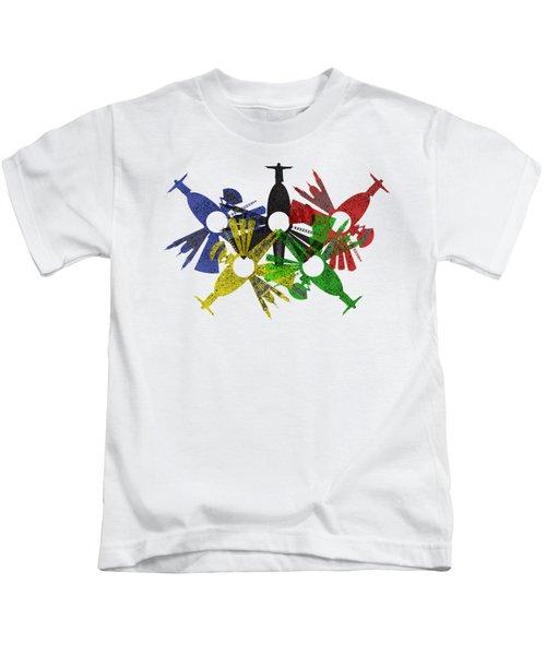 Rio De Janeiro Skyline In Various Colors Kids T-Shirt