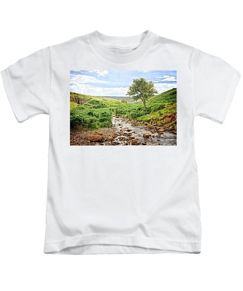 River And Stream In Weardale Kids T-Shirt