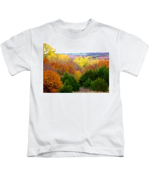 River Bottom In Autumn Kids T-Shirt