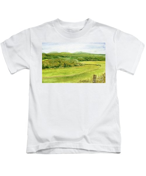 Road Through Vermont Field Kids T-Shirt