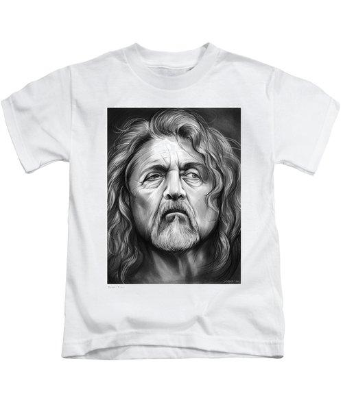 Robert Plant Kids T-Shirt by Greg Joens