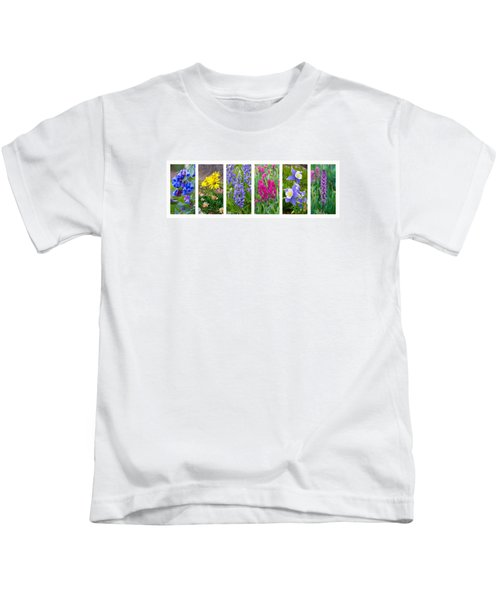 Rocky Mountain Wildflower Collection Kids T-Shirt