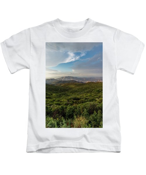 Rolling Hills Of Chaparral Kids T-Shirt
