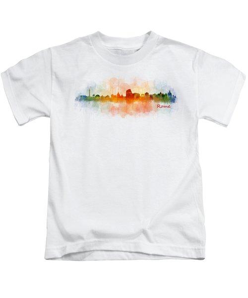 Rome City Skyline Hq V03 Kids T-Shirt