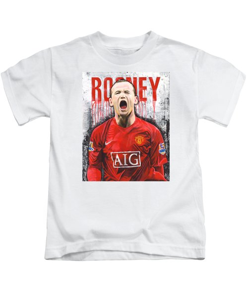 Rooney Kids T-Shirt by Jeff Gomez