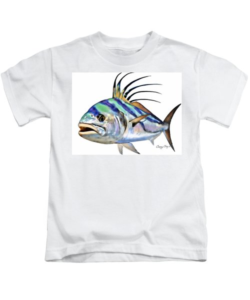 Roosterfish Digital Kids T-Shirt by Carey Chen