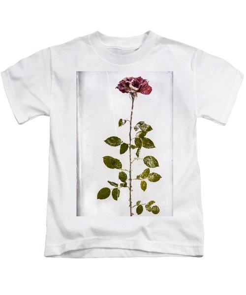 Rose Frozen Inside Ice Kids T-Shirt