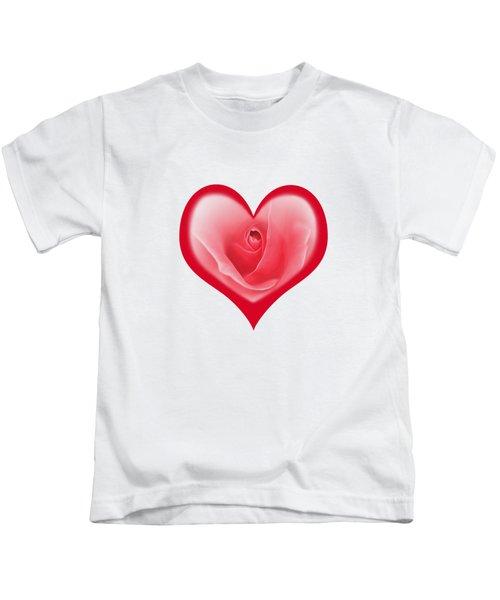 Rose Heart T-shirt And Print By Kaye Menner Kids T-Shirt