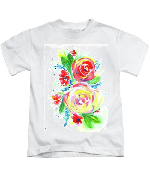 Rose Red Rose Yellow  Kids T-Shirt