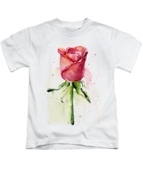 Rose Watercolor Kids T-Shirt