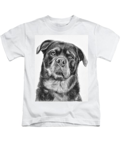 Rottweiler Drawing Titled Mama Kids T-Shirt