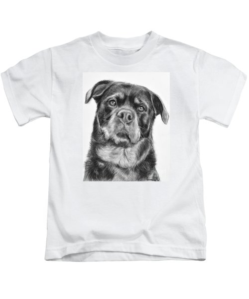 Rottweiler Drawing Titled Mama Kids T-Shirt