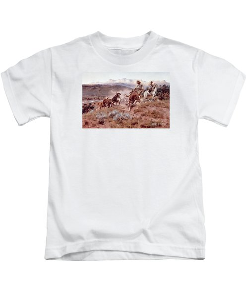 Round Up On The Musselshell  Kids T-Shirt