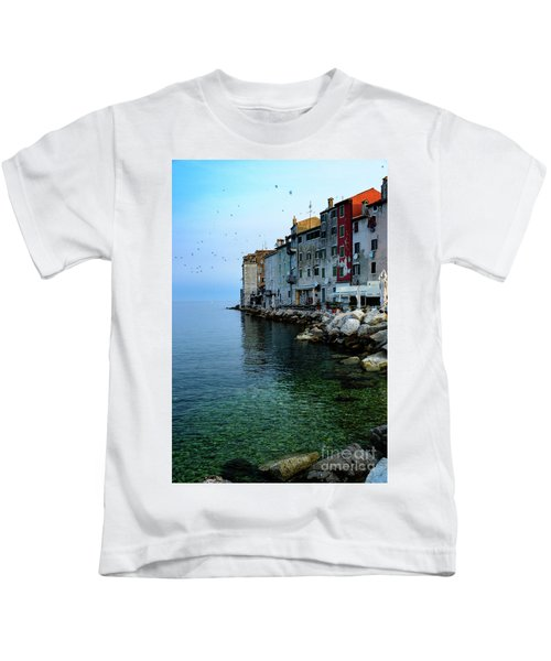 Rovinj Venetian Buildings And Adriatic Sea, Istria, Croatia Kids T-Shirt