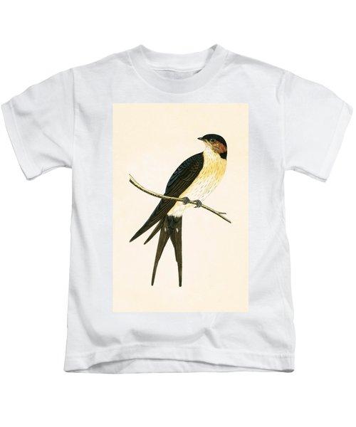 Rufous Swallow Kids T-Shirt by English School