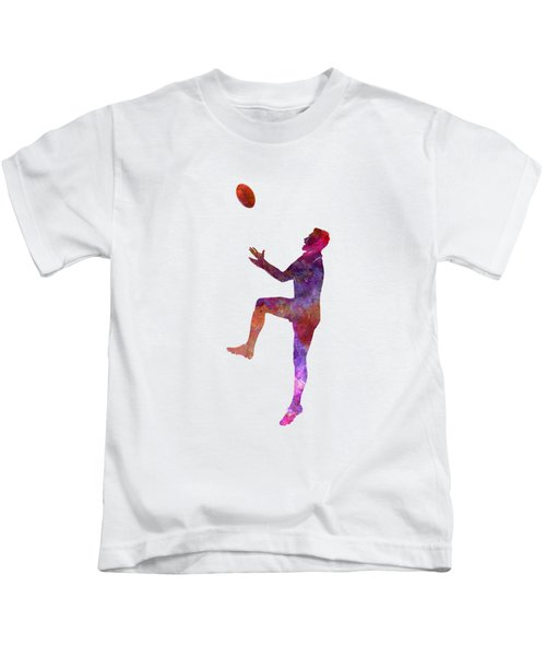 Rugby Man Player 01 In Watercolor Kids T-Shirt