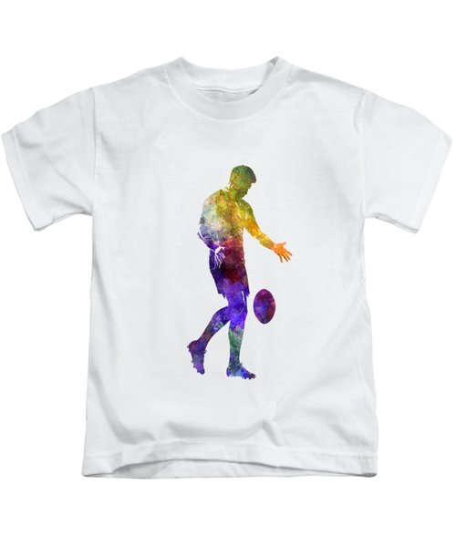 Rugby Man Player 02 In Watercolor Kids T-Shirt