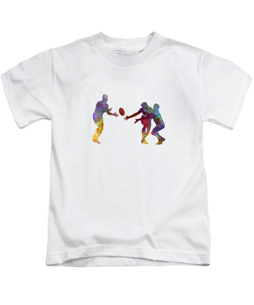 Rugby Men Players 02 In Watercolor Kids T-Shirt