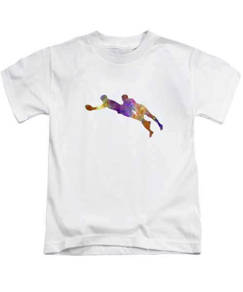 Rugby Men Players 03 In Watercolor Kids T-Shirt