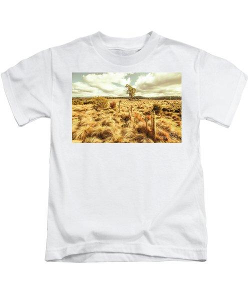 Rugged Australian Pastures Kids T-Shirt