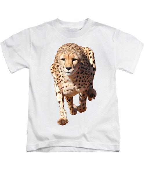 Running Cheetah, Transparent Background Kids T-Shirt