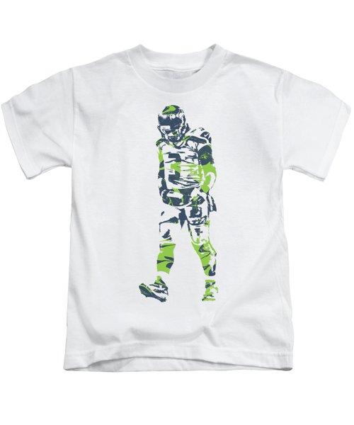 Russell Wilson Seattle Seahawks Pixel Art T Shirt 1 Kids T-Shirt