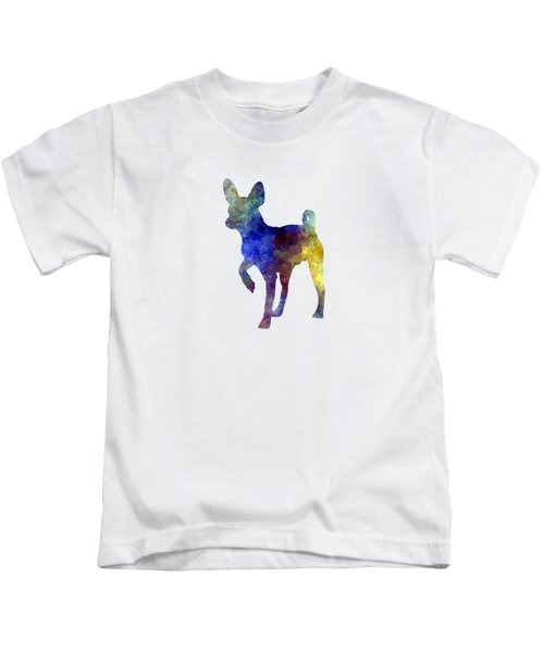Russian Toy 01 In Watercolor Kids T-Shirt by Pablo Romero