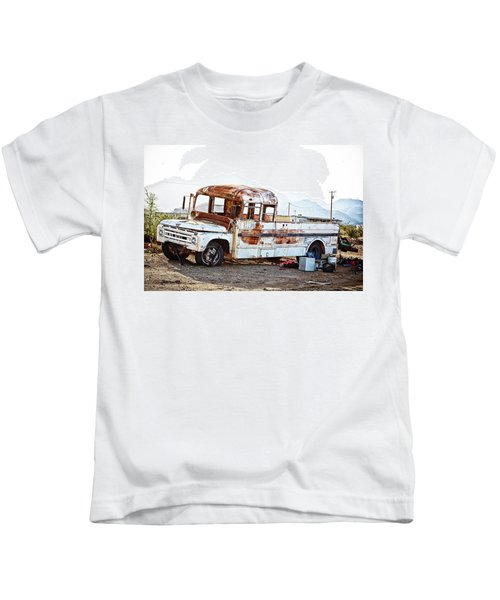 Rusted Abandoned Truck Kids T-Shirt