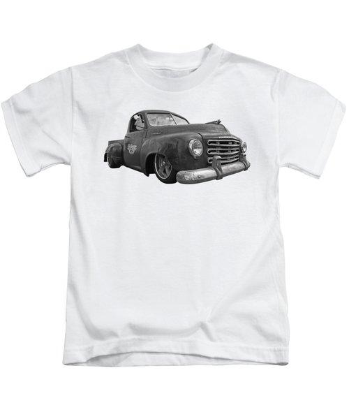 Rusty Studebaker In Black And White Kids T-Shirt