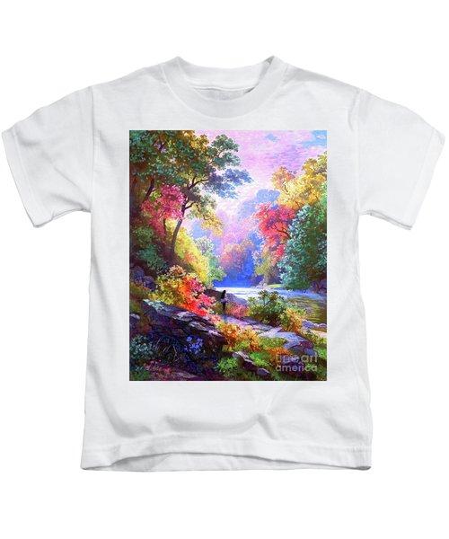 Sacred Landscape Meditation Kids T-Shirt