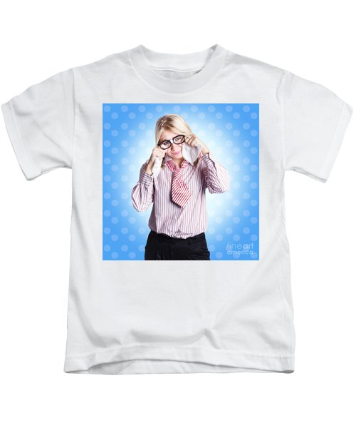 Sad Worker In Business Trouble Kids T-Shirt