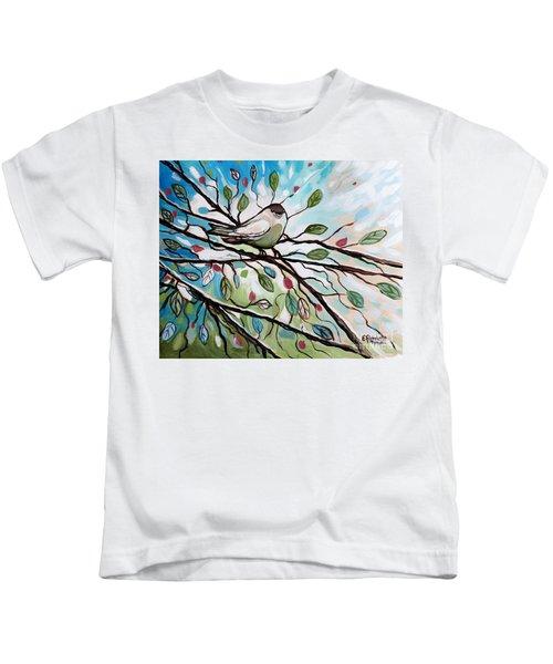 Sage Glimmering Songbird  Kids T-Shirt