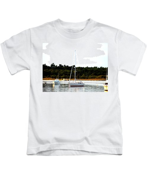 Sail Boat At Anchor  Kids T-Shirt