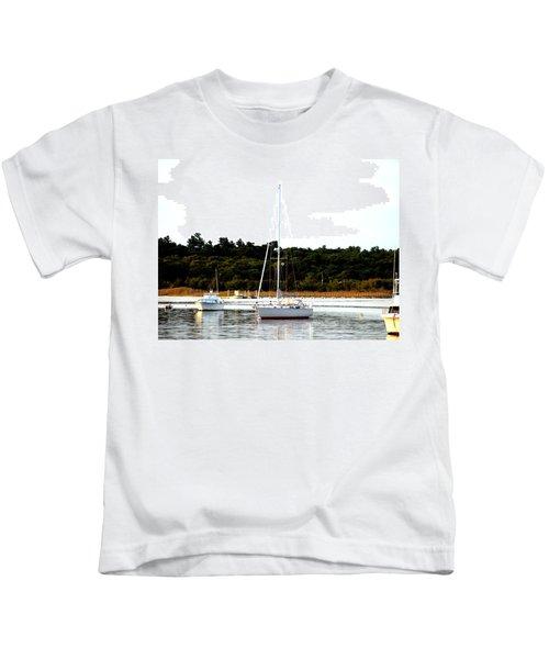 Sail Boat At Anchor  Kids T-Shirt
