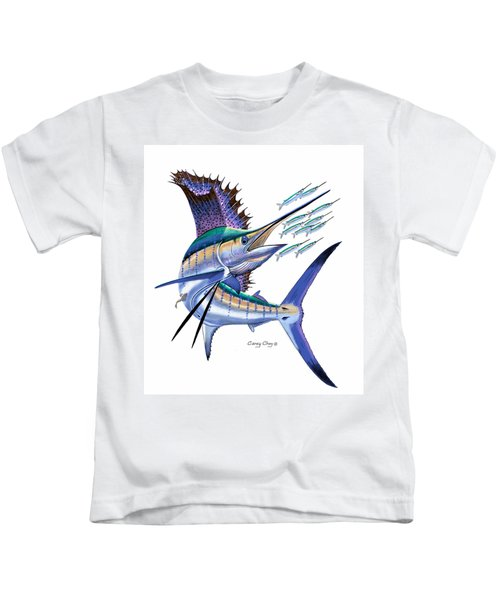 Sailfish Digital Kids T-Shirt by Carey Chen