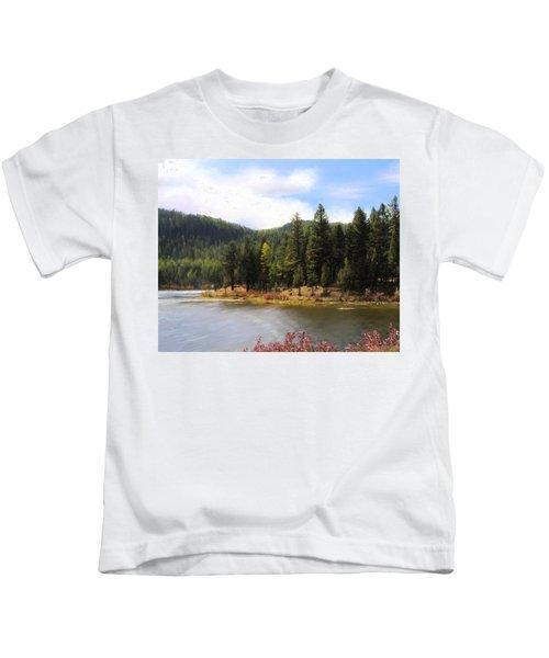 Salmon Lake Montana Kids T-Shirt