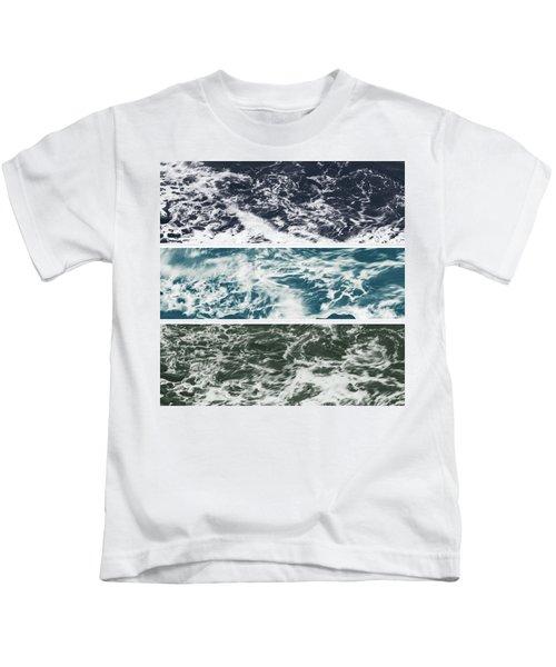 Salt Water Triptych Variation 2 Kids T-Shirt