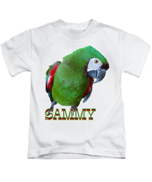 Sammy The Severe Kids T-Shirt by Zazu's House Parrot Sanctuary