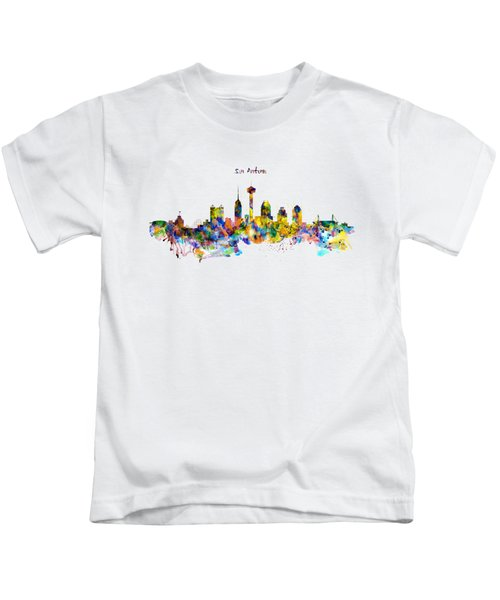 San Antonio Skyline Silhouette Kids T-Shirt