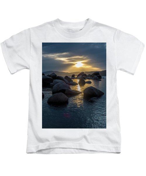 Sand Harbor Light Kids T-Shirt