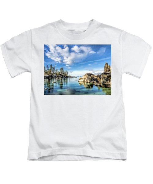 Sand Harbor Morning Kids T-Shirt