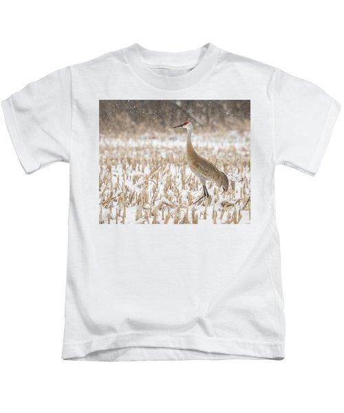 Sandhill Crane 2016-3 Kids T-Shirt