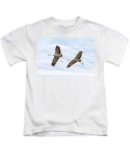 Sandhill Crane Approach Kids T-Shirt